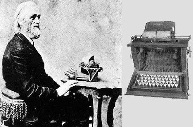 เครื่องพิมพ์ดีด -ปี 1694