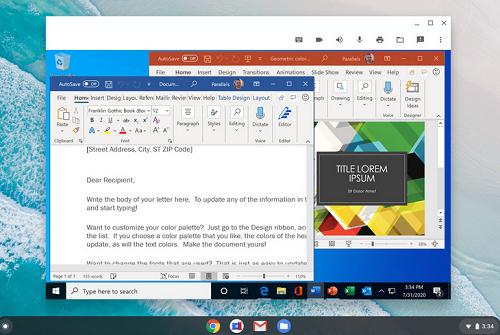 Parallels Desktop-เปิดให้ใช้งานแอป Windows
