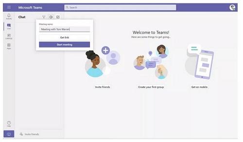 ผู้ใช้สามารถสร้างการประชุม Microsoft Teams