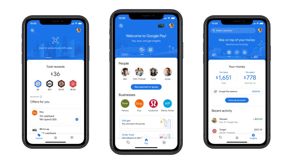 วันนี้แอป Google Pay สำหรับทั้ง Android และ iOS