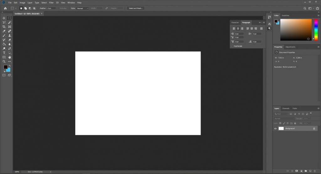 อะโดบี โฟโตชอป Adobe Photoshop ที่ใช้ออกแบบภาพวาด