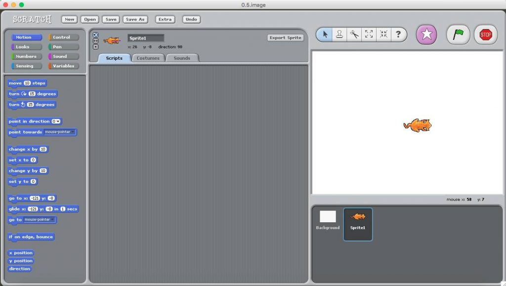 Scratch 1.4  เป็นโปรแกรมสร้างเกมส์