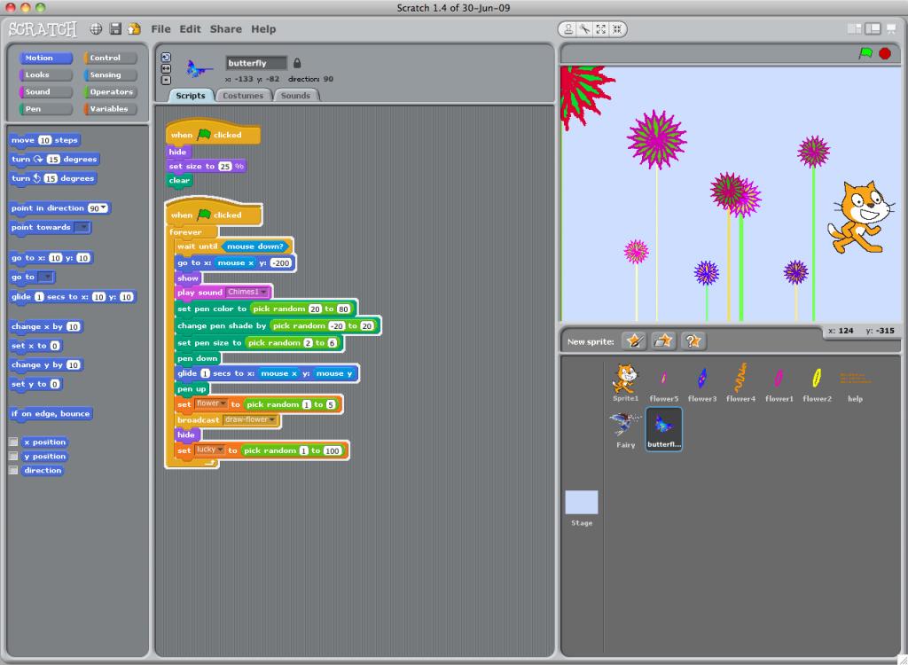 โปรแกรม Scratch 1.4