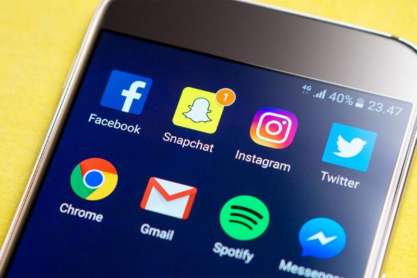แอปพลิเคชัน Snapchat ที่มี Dark Mode