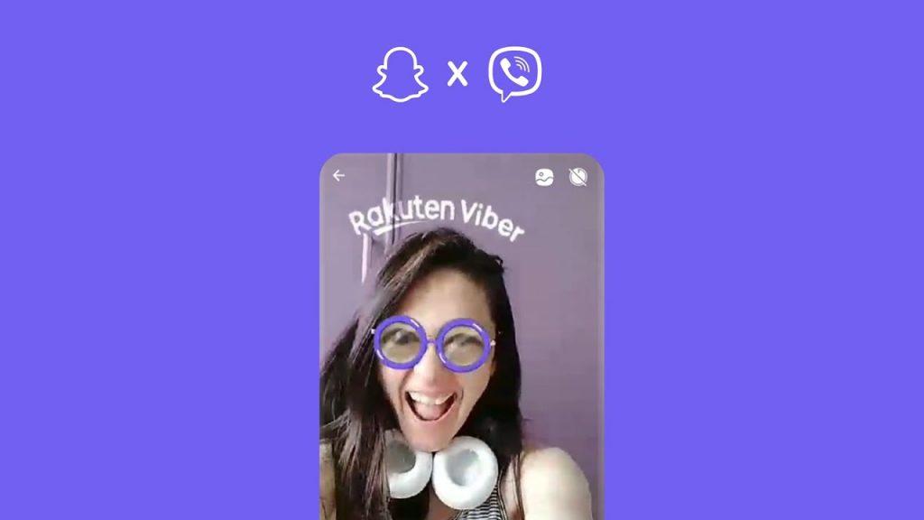 การใช้ฟีเจอร์ Viber Lense จาก Snapchat